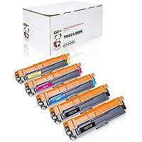 YoYoink - 5 cartuchos de tóner compatibles para Brother TN221 TN225 B/C/M/Y (2 negro, 1 cian, 1 magenta, 1 amarillo) MFC 9130CW MFC-9340CDW HL-3170CDW
