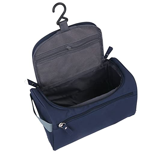 2f3882eeefb1 Amazon.com   ONEGenug Toiletry Bag Overnight Wash Bag Hanging Gym Shaving  Bag for Men and Women Ladies Travel Blue   Beauty