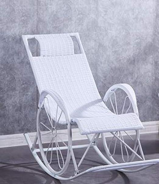 YQ&TL-YS Jardín Tumbona,Terraza Guarniciones De Muebles Mejor Luz para El Camping, Playa Balcón del Salón Sillones White: Amazon.es: Hogar
