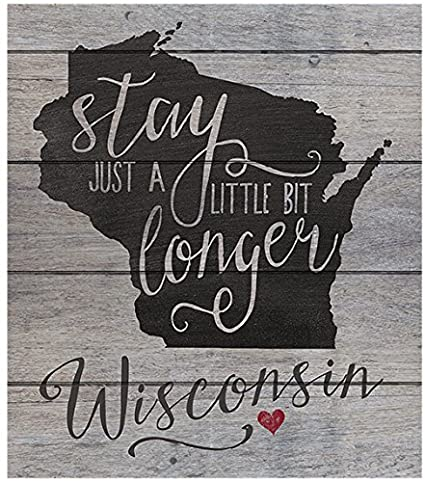 amazon com kindred hearts 12 x13 5 wisconsin state slogan pallet