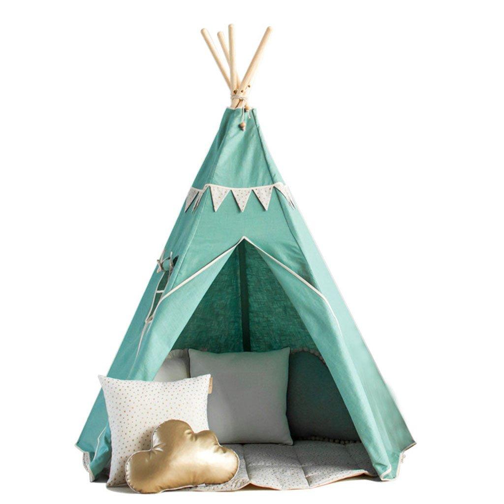 ZPHWH-E HWH Tragbare Zelt, Haushalts Schlafzimmer Spielzeug Zimmer Kinderzimmer Dekoration Outdoor Zelt Tuch Kunst Massivholz Marine Ball Pool 120-150 cm Spiel Haus