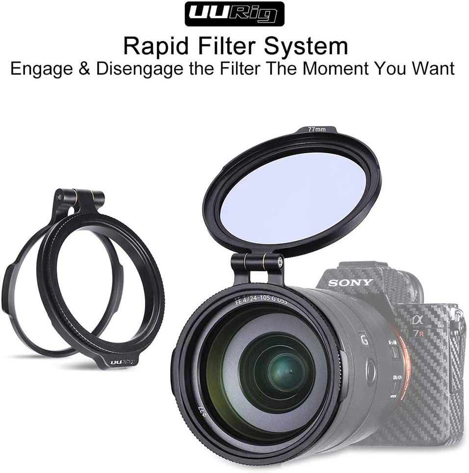 ROWEQPP ND Filter Quick Release Ring DSLR Camera Accessory Quick Switch Bracket DSLR Lens Flip Mount Clip 2.83 72mm