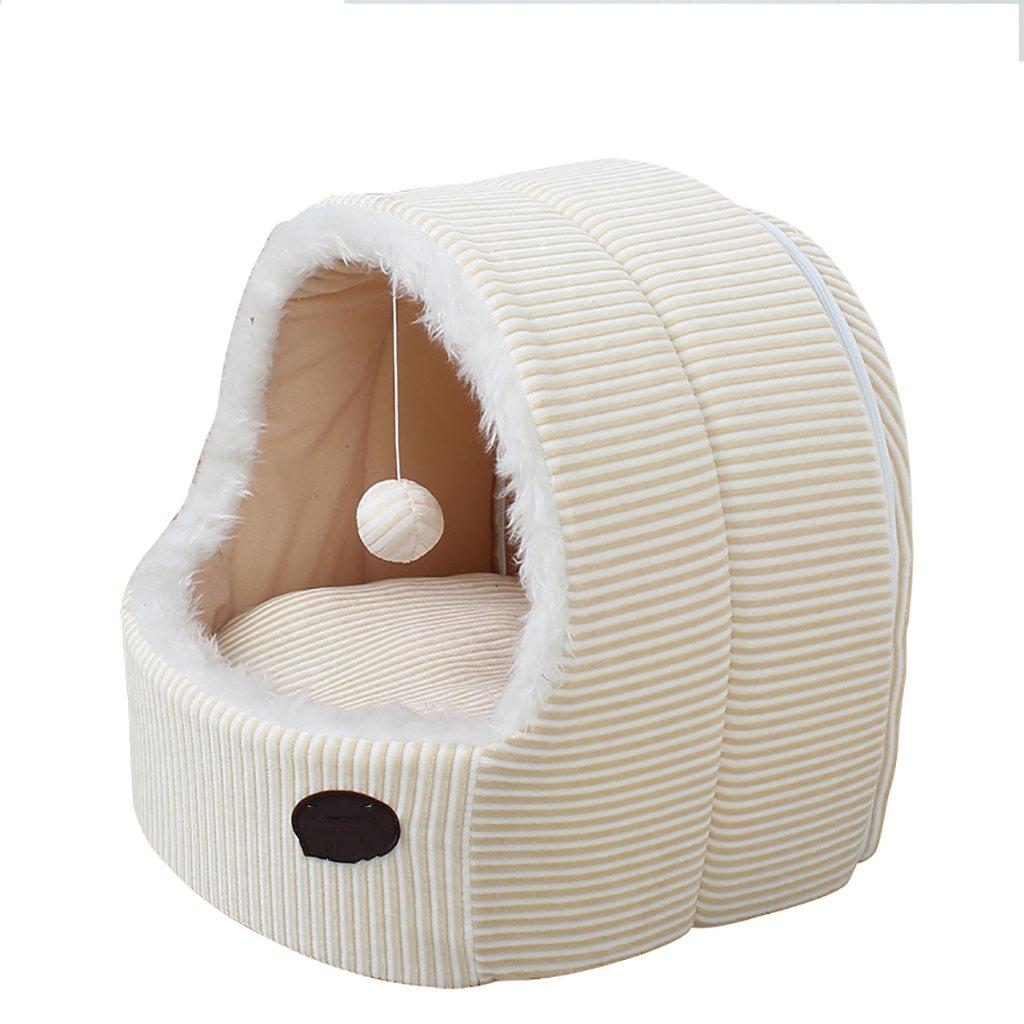 GJ@ + Nido di Gatto del Gatto del Cane dell'animale Domestico Rimovibile e Lavabile Quattro Stagioni ApplySmall Dog Bed Mat Dog Room, Bianco, 45  48  48cm