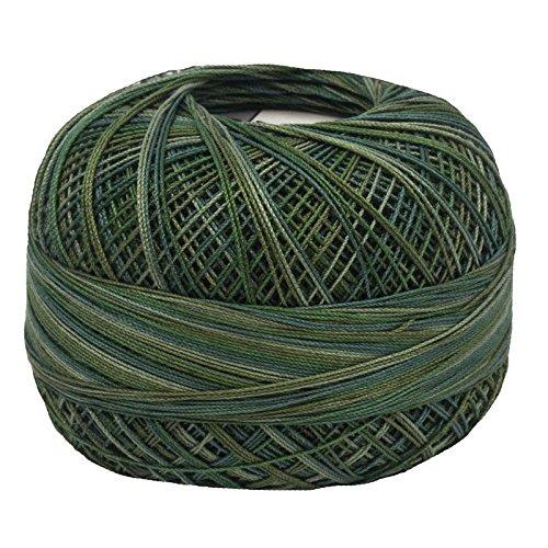 (Lizbeth Size 80 HH80 Lizbeth Cotton Thread 184 yds 10 Grams, Jungle Greens)