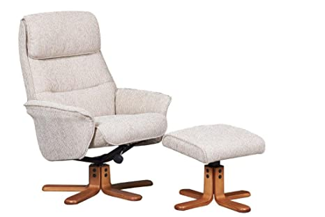 Tremendous Gfa The Amalfi Fabric Recliner Swivel Chair In Stone Pabps2019 Chair Design Images Pabps2019Com