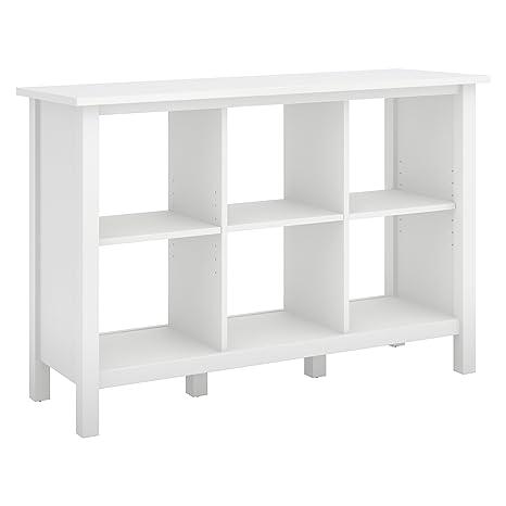 timeless design b09e2 2e185 Bush Furniture Broadview 6 Cube Storage Bookcase in Pure White