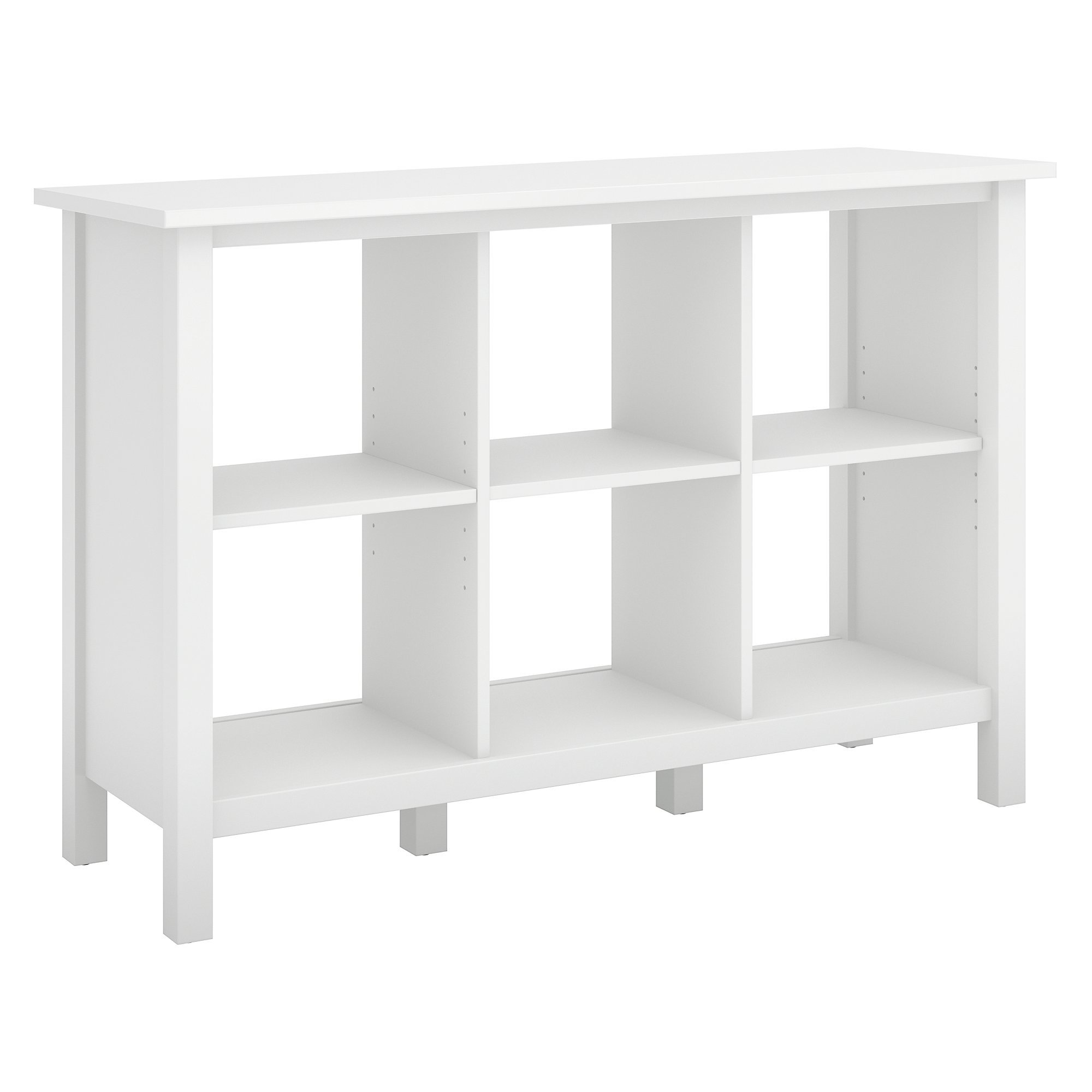 Broadview 6 Cube Storage Bookcase in Pure White by Bush Furniture (Image #2)