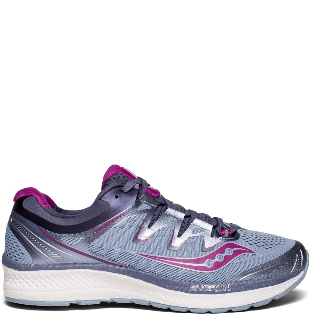 Saucony Women's Triumph ISO 4 Running Shoe, Fog/Grey, 5 Medium US