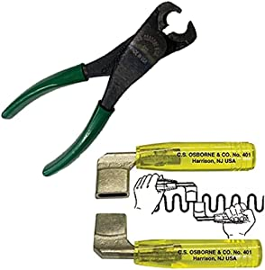 UJ Ramelson Co CS Osborne Upholstery Tools Combo Pack - BW 522 Clip Pliers & Spring Benders 401-1 (3/8x1) - DIY Furniture Repair Restoration - Made in The USA