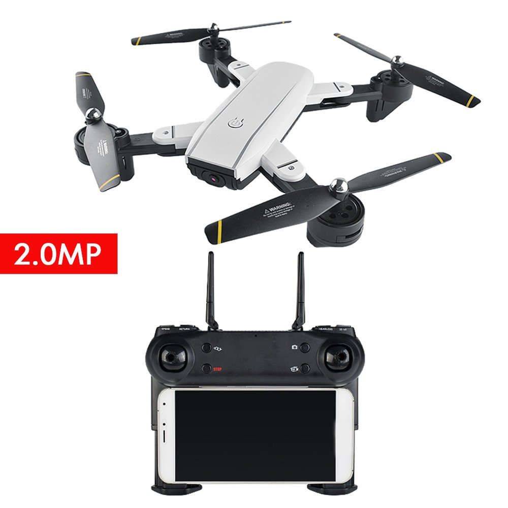 200W Camera RC Quadcopter,SG700 4CH 2.4GHz Aircraft Quadcopter USB Charge Speed Adjustable Wireless Premium Original 6 Axis Gyro FPV Drone UAV(Weiß+200W)