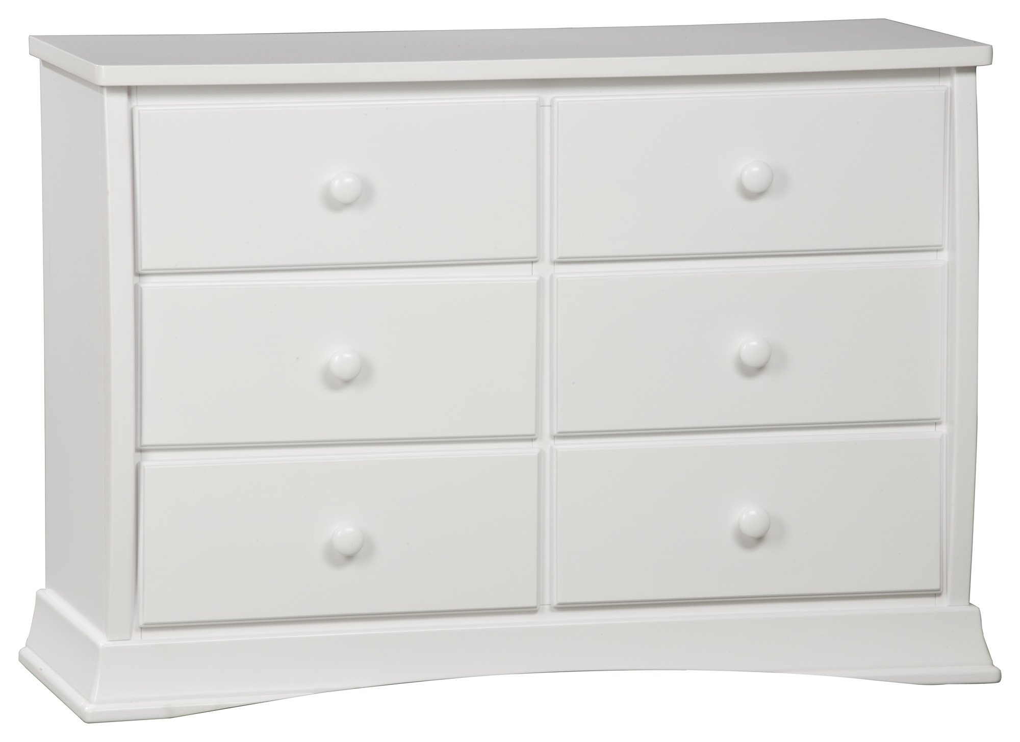Delta Children Bentley Six Drawer Dresser, White