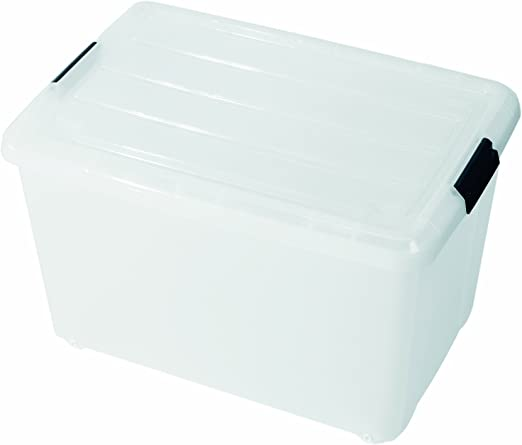 IRIS 107019 Juego de 10 Cajas, Roller Caja 50 l, Sistema de ...