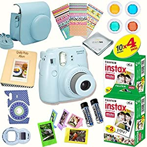 Fujifilm Instax Mini 8 Deluxe kit bundle Includes: - Instant camera with Instax mini 8 instant films (40 pack) - A MASSIVE DELUXE BUNDLE ...