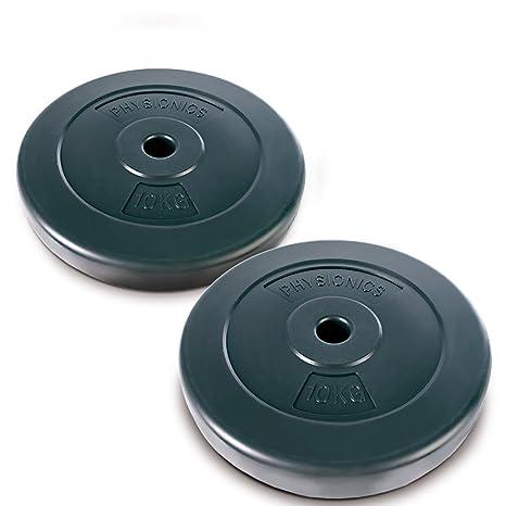 Physionics®® - HSTA18-2 Discos de Pesas de 10kg Cada uno