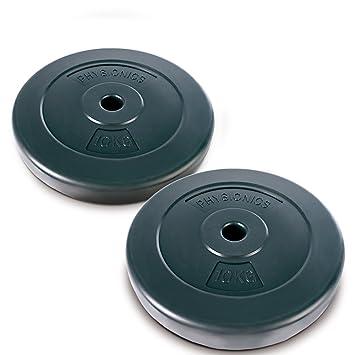 Physionics®® - HSTA18-2 Discos de Pesas de 10kg Cada uno: Amazon.es: Deportes y aire libre