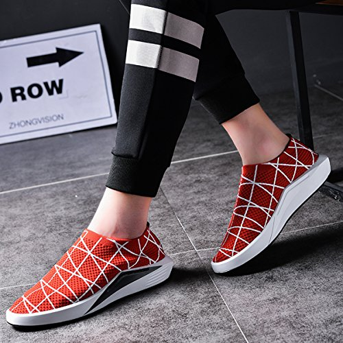 Womens Athletic Flyknit Mens on Running Casual Sneakers Fashion Road Slip Orange and shoes Zq5wpa5
