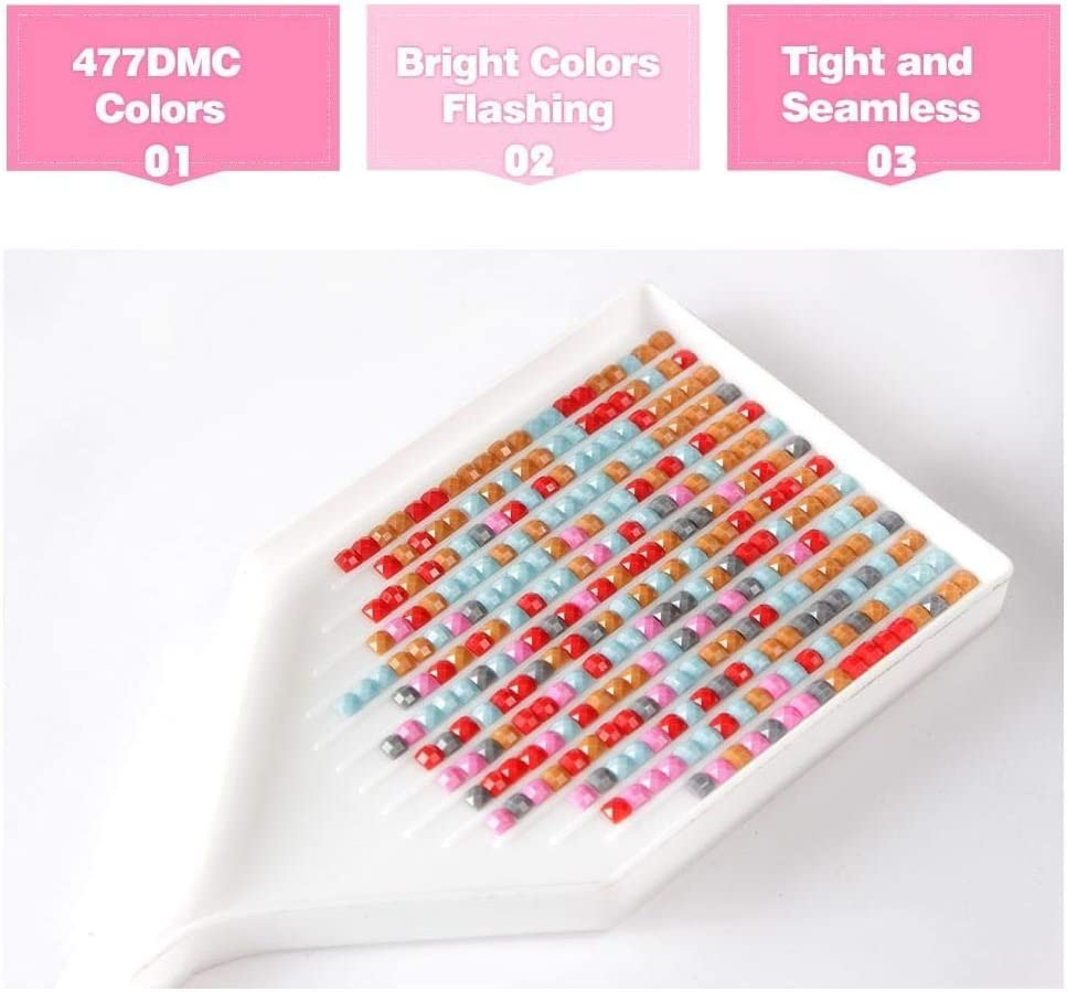 Cerezo 5D DIY Diamante completo Pintura Nuevo punto de cruz Diamante bordado caniche