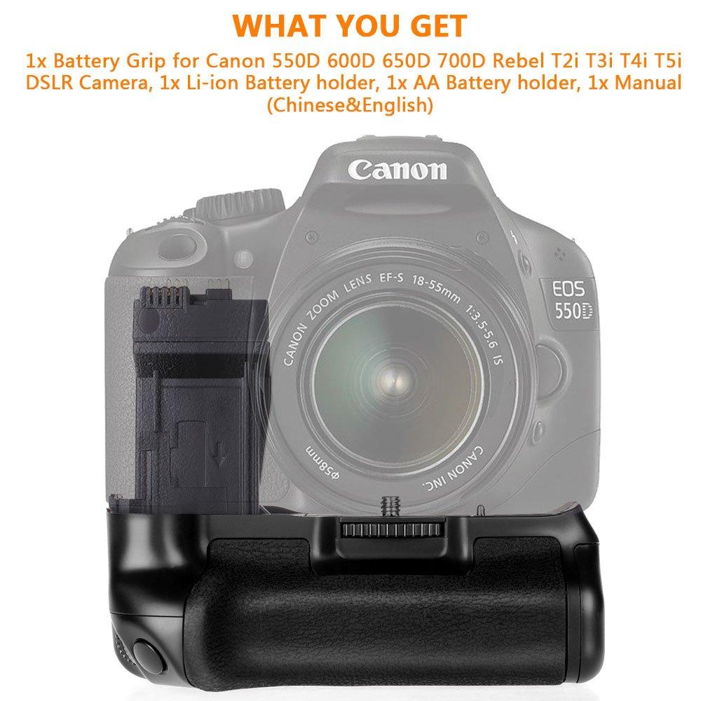 Amazon.com: FOSITAN BG-1F Battery Grip for Canon 550D ...