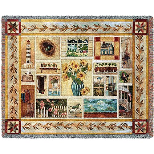 Pure Country Inc. American Country Blanket Tapestry Throw (Pure Country Weavers Floral Tapestry)