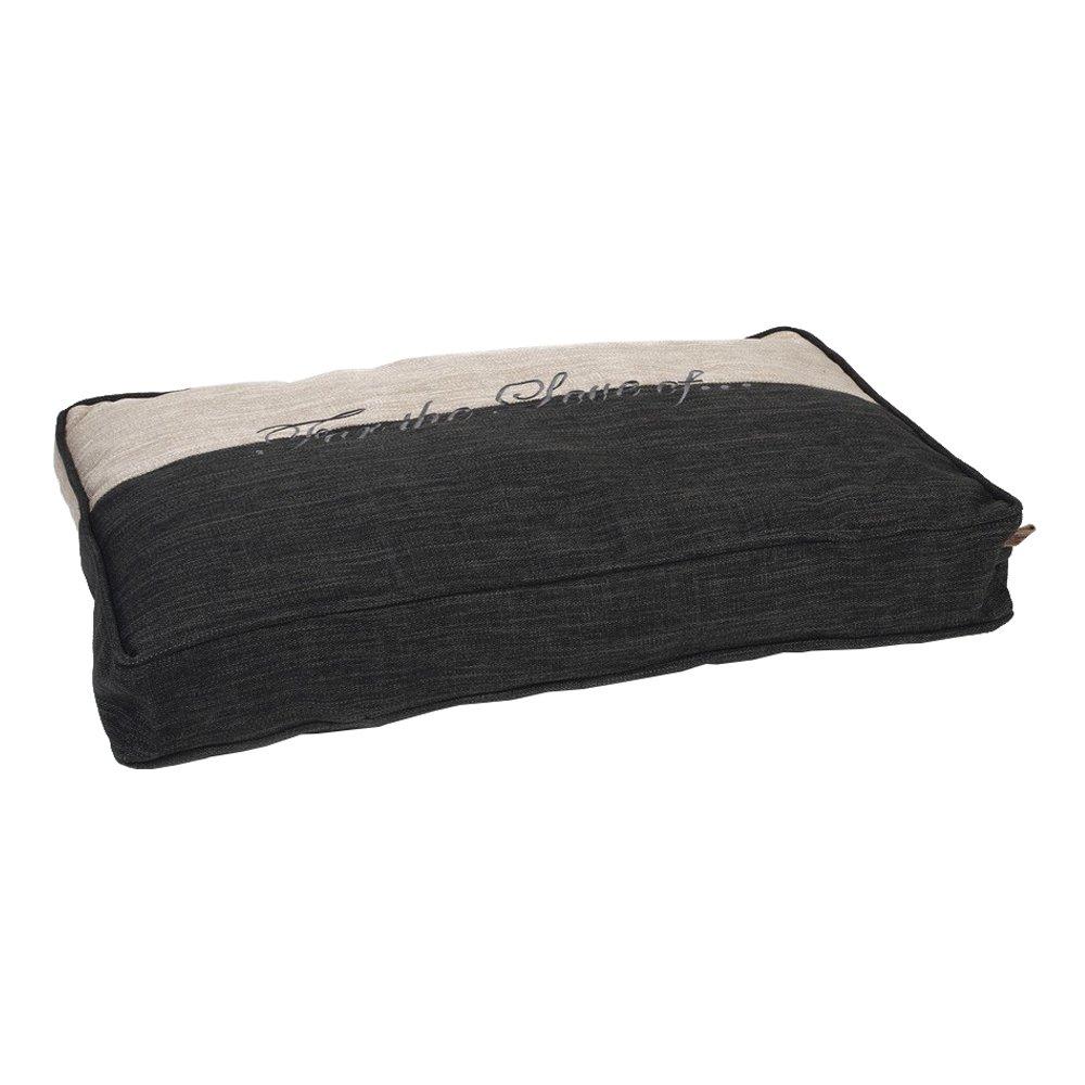 Designed by Lotte Rest Cushion Dog Basket Mera, 120 x 80 x 15 cm, Grey