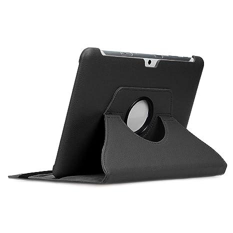 doupi Deluxe Protección Funda para Galaxy Tab 2 (10,1 pulgadas), Smart Sleep/Wake Up función 360 grados giratoria del caso del soporte bolsa, Negro