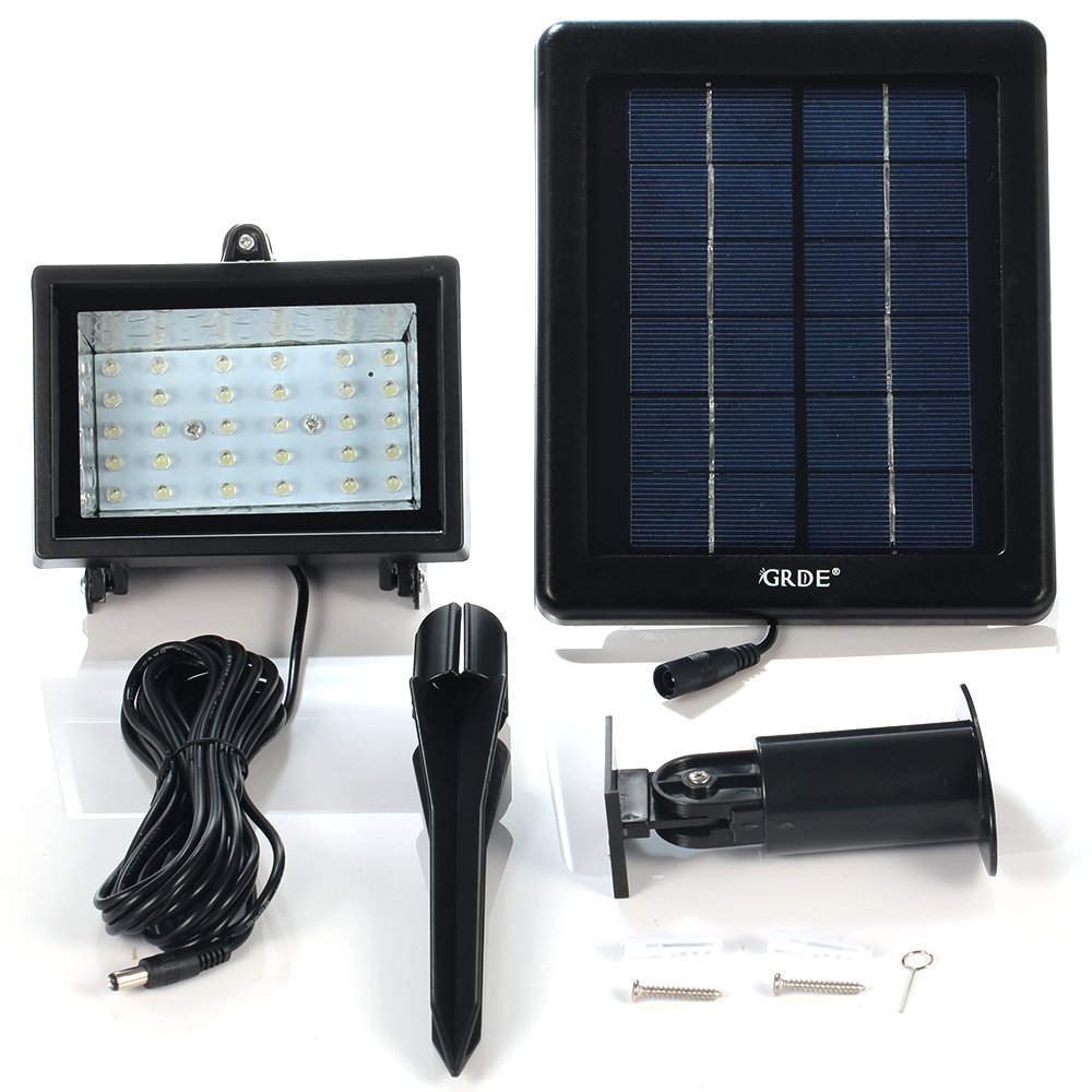 GRDE 30 LED Solar Flood Light