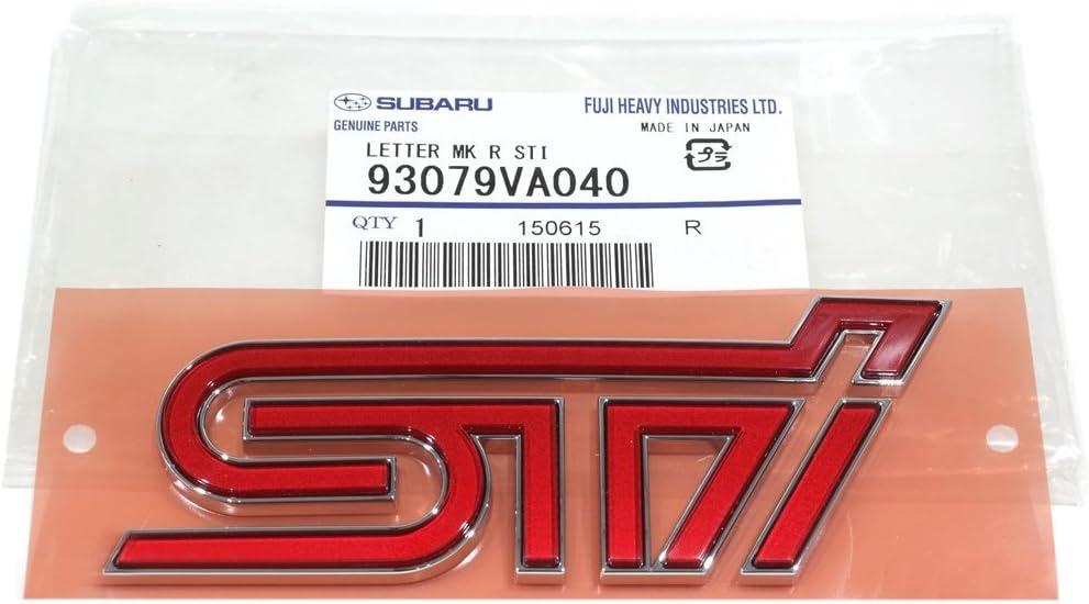 2005 Subaru Impreza Genuine WRX STi Rear Trunk Emblem Pink And Black OEM NEW