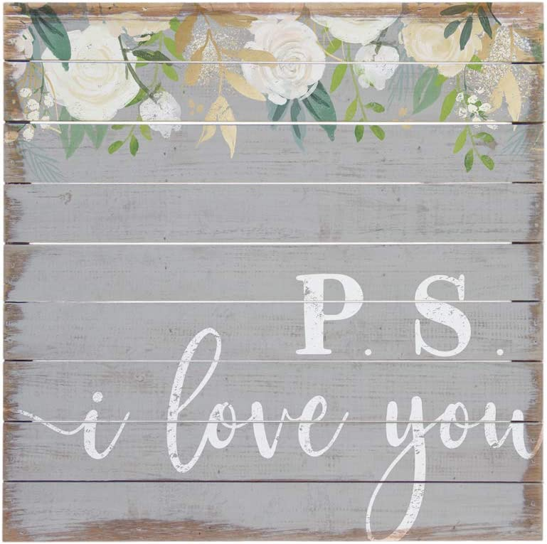 "Simply Said, INC Perfect Pallets 14"" Wood Sign PAL1394 - P.S. I Love You"