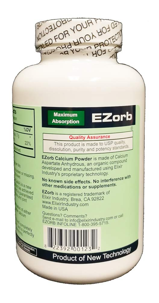 Amazon.com: ezorb Calcio 100 g en polvo para huesos ...