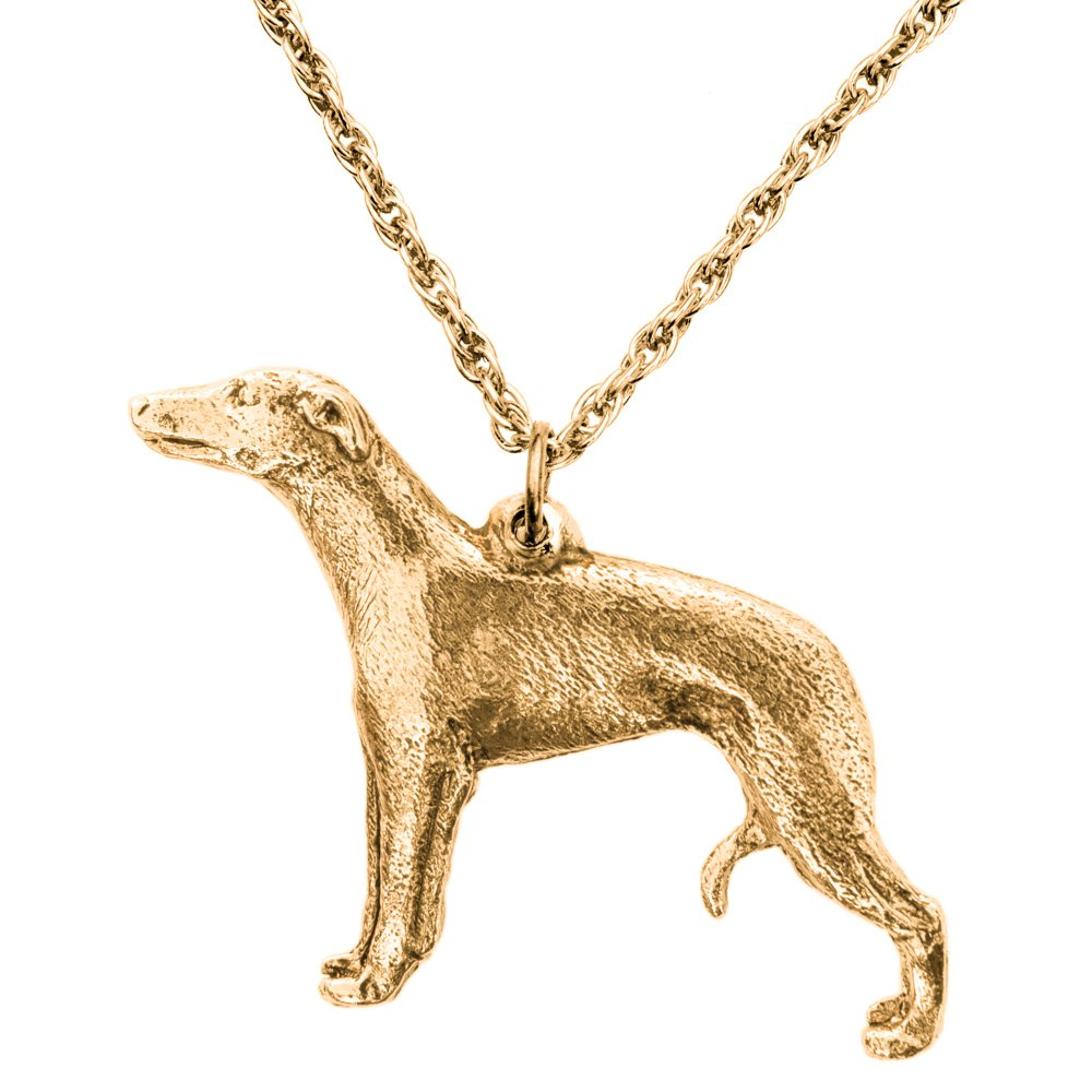 Whippet Made in UK, Collection Pendentif Collier Artistique Style Chien DOG ARTS JP
