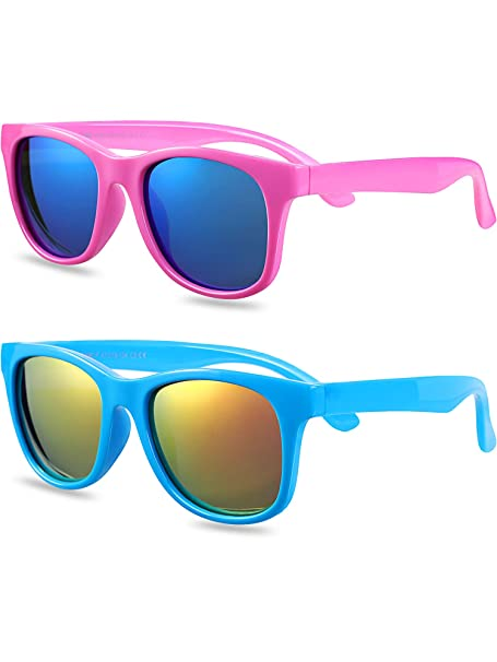 2 Pairs Toddler Kids Sunglasses Gafas de sol de silicona ...