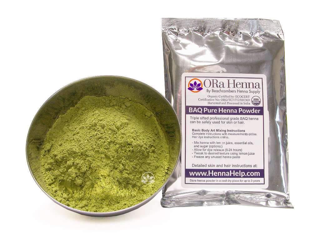 c3b3804811be7 Rajasthani Henna Hair Color Natural Organic Indian Pure No Chemicals BAQ  100 Grams product image