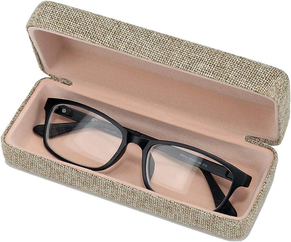 custodia rigida per occhiali di medie dimensioni in lino molshine
