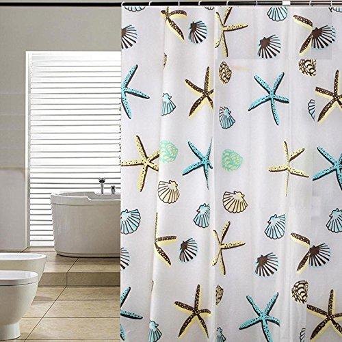 I Robot Movie Costume (Home Product Seashell Starfish Pattern Shower Curtain Bathroom WaterProof Mildewproof 71