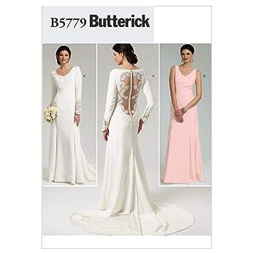 Butterick B5779 - Patrón de costura para confeccionar vestido de novia y de dama de honor: Amazon.es