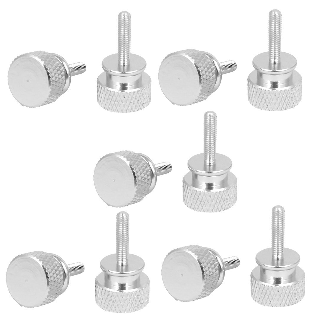uxcell Computer PC Case M3x12mm Aluminum Alloy Knurled Thumb Screws Silver Tone 10pcs