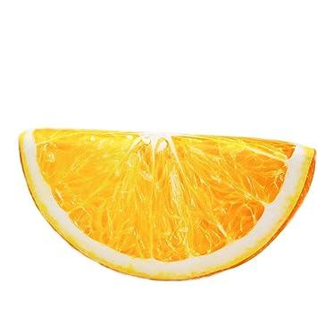 3d frutas almohada, hunpta 3d cojines de peluche suave almohada cojín naranja sandía de frutas