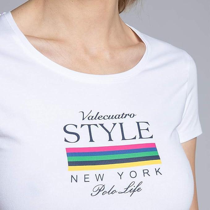 Camiseta de Manga Corta para Mujer con Diseño y Cuello ...
