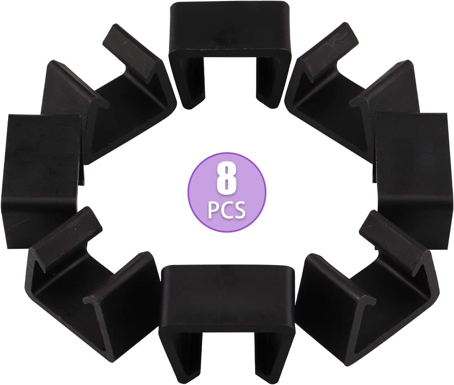 Outdoor Patio Wicker Furniture Clips 8 PCS Sectional Sofa Rattan Chair Fastener Connect Clips, Garden Sectional Sofa Couch Alignment Connectors Fix Clamps(Medium)