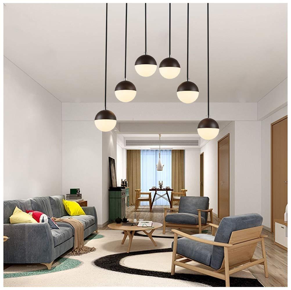 Light-S 6ライトペンダントライトシンプルなレストランシャンデリア現代ledリビングルーム天井照明用リビングルーム寝室クリエイティブ小さなスペース   B07TXQGCKF