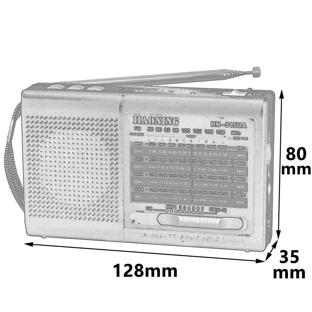 Household appliances Support TF Card U Disk Full-Band Radio, Retro pin-Type Three-Band Radio, Multifunctional Old Radio Speaker AOYS by Household appliances (Image #2)