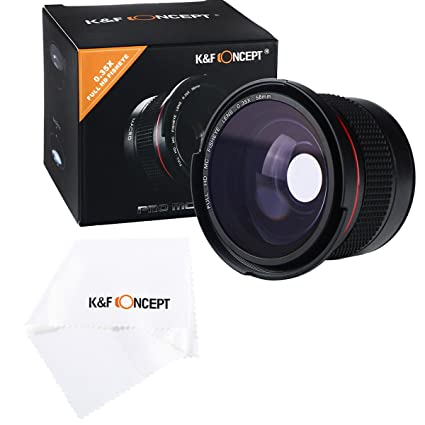 K&F Concept® - Objetivo Súper Gran Angular, 58MM Fisheye Ultra ...