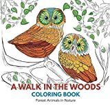 img - for A Walk in the Woods Coloring Book: Forest Animals in Nature book / textbook / text book