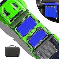 Shadeidea Sun Shade for Jeep Gladiator, JT 4 Door Top Sunshade, Front & Rear (2-Pieces) - Blue Mesh Screen Wrangler…