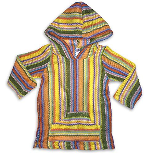 Sol Baby Infant/Toddler Baja Hoodie Multi-Stripe Sweater with ()