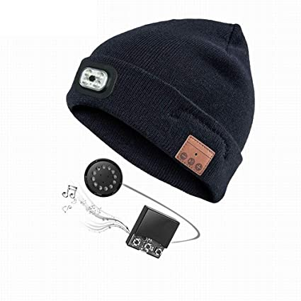 94e2ced3a Amazon.com: Leegoal Bluetooth Beanie Hat Wireless Speaker Headset ...