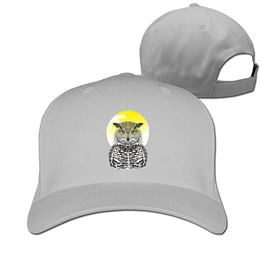 Amazon.com  HHNYL Handsome Owl Dad Hat Baseball Cap Peaked Trucker ... 89c2ded97f6