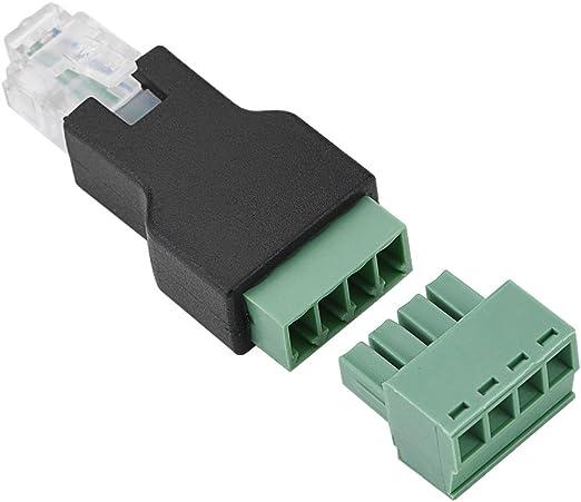 Ethernet Adapter Rj11 6p4c Stecker Auf 4 Polige Schraubklemmen