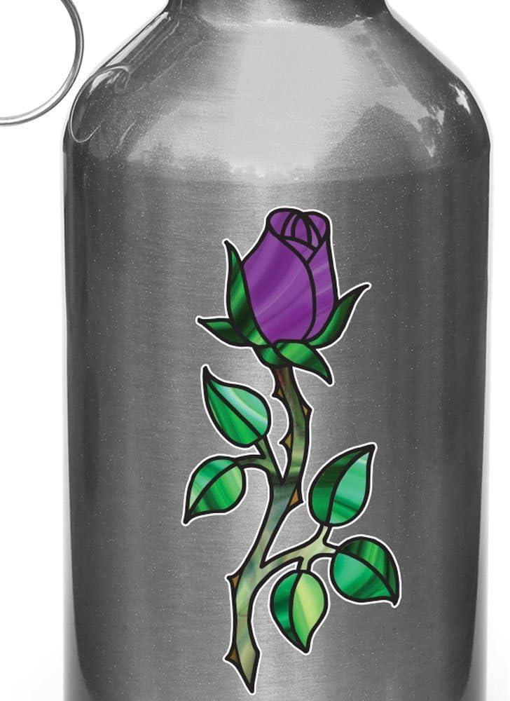 Yadda-Yadda Design Co. Rosebud en Tallo W Espinas–Vinilo para Botella de Agua   Termo   Coche Gas Cap–Autor© 2016yydc (2