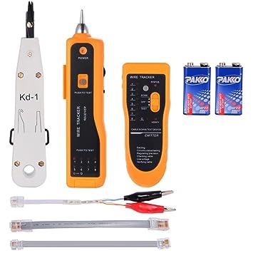 zacro® Wire Tracker - Comprobador de cables, Kabelfinder, alambre de Perseguidor, RJ45